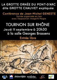 conférence sur la grotte ornée du Pont d'Arc